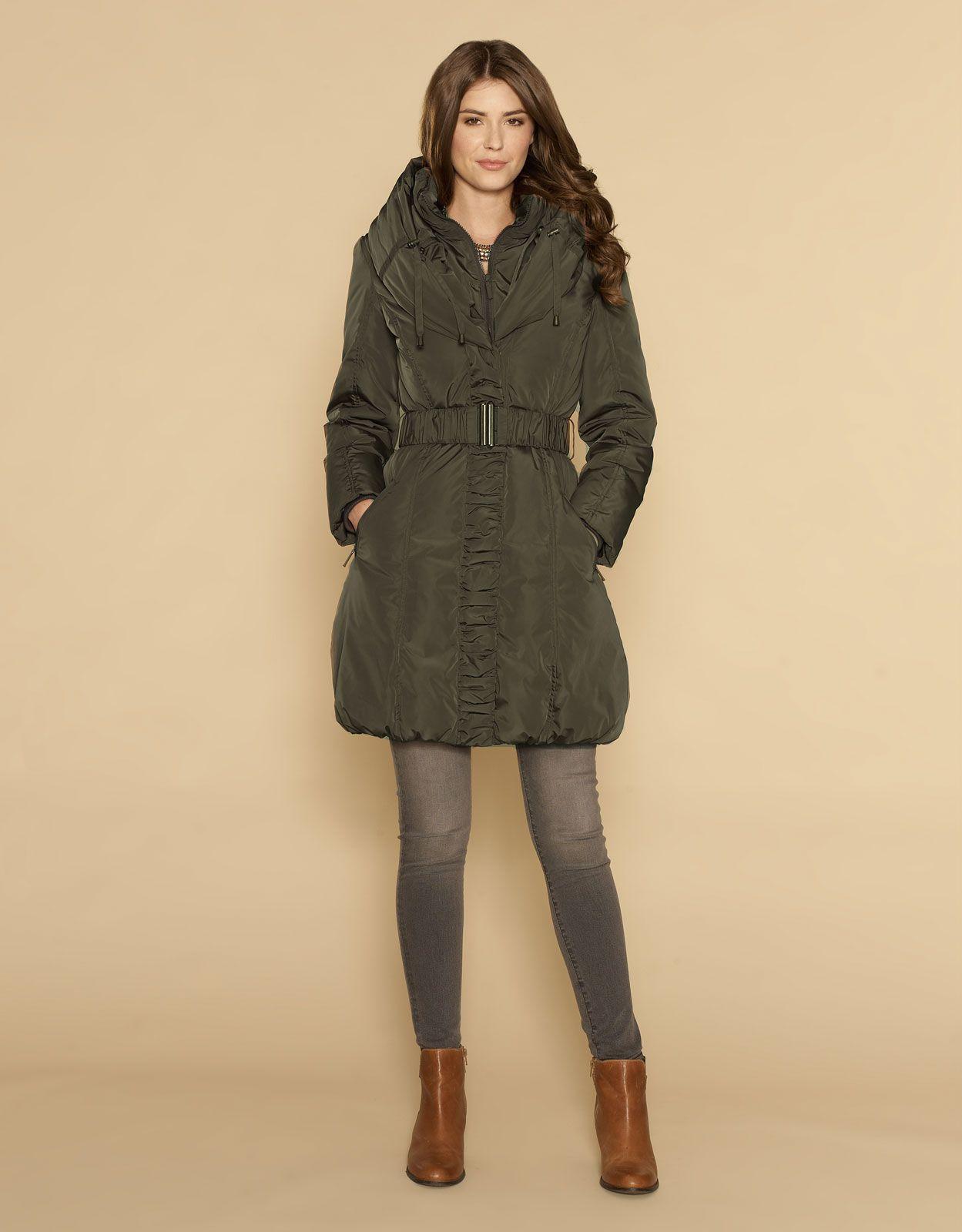 Пуховик Carys Long Hooded Puffa | Зеленый | Monsoon | Style / Too ...