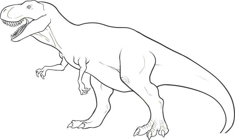 Dinosaurs Coloring Pages Free Dengan Gambar Dinosaurus