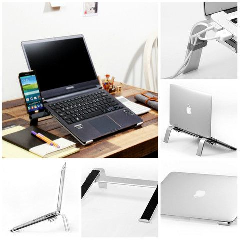 Cyk Studio L Cool Ergonomic Aluminium Laptop Cooling Stand For Macboo Cyanics Macbook Laptop Laptop Cooling Stand