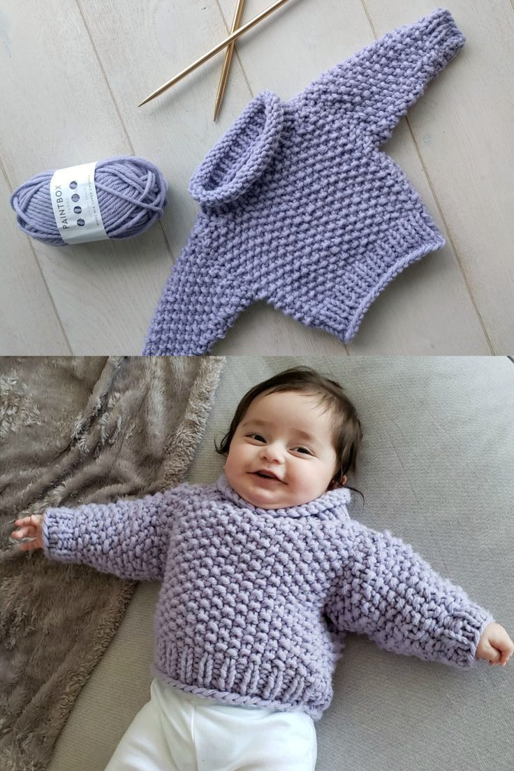 The little chunky is a free knit baby sweater pattern ...