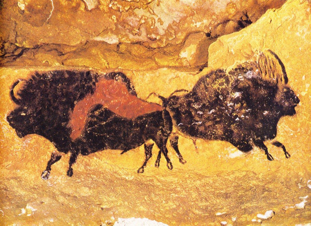 grotte de lascaux the famous prehistoric cave printing in france