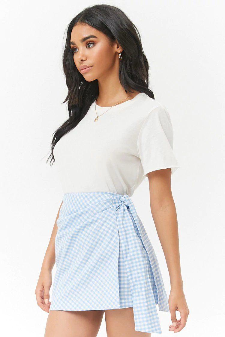 823b5ebe54b Product Name Gingham Print Wrap Skirt