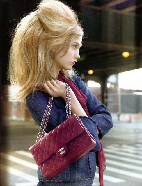 Chanel 2.55 in mulberry colour
