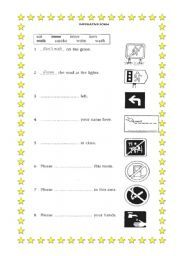 english worksheet imperative form a4 english activities worksheets english. Black Bedroom Furniture Sets. Home Design Ideas