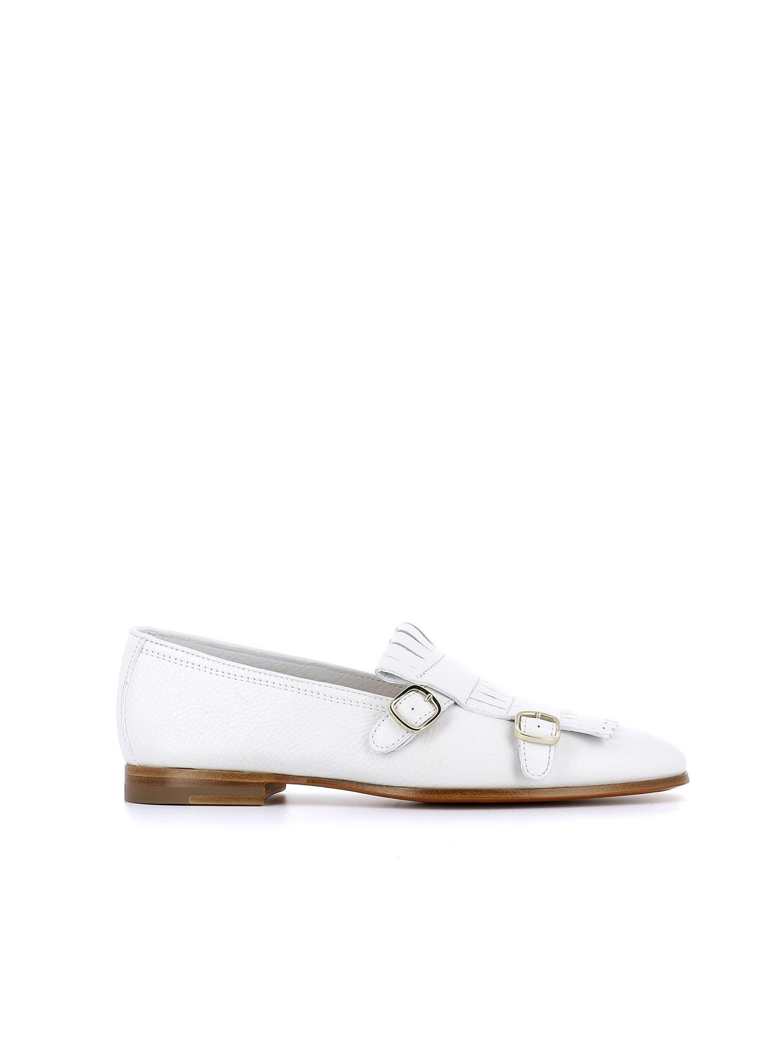 SANTONI FRINGED MONK SHOES. #santoni #shoes #   Shoes, White
