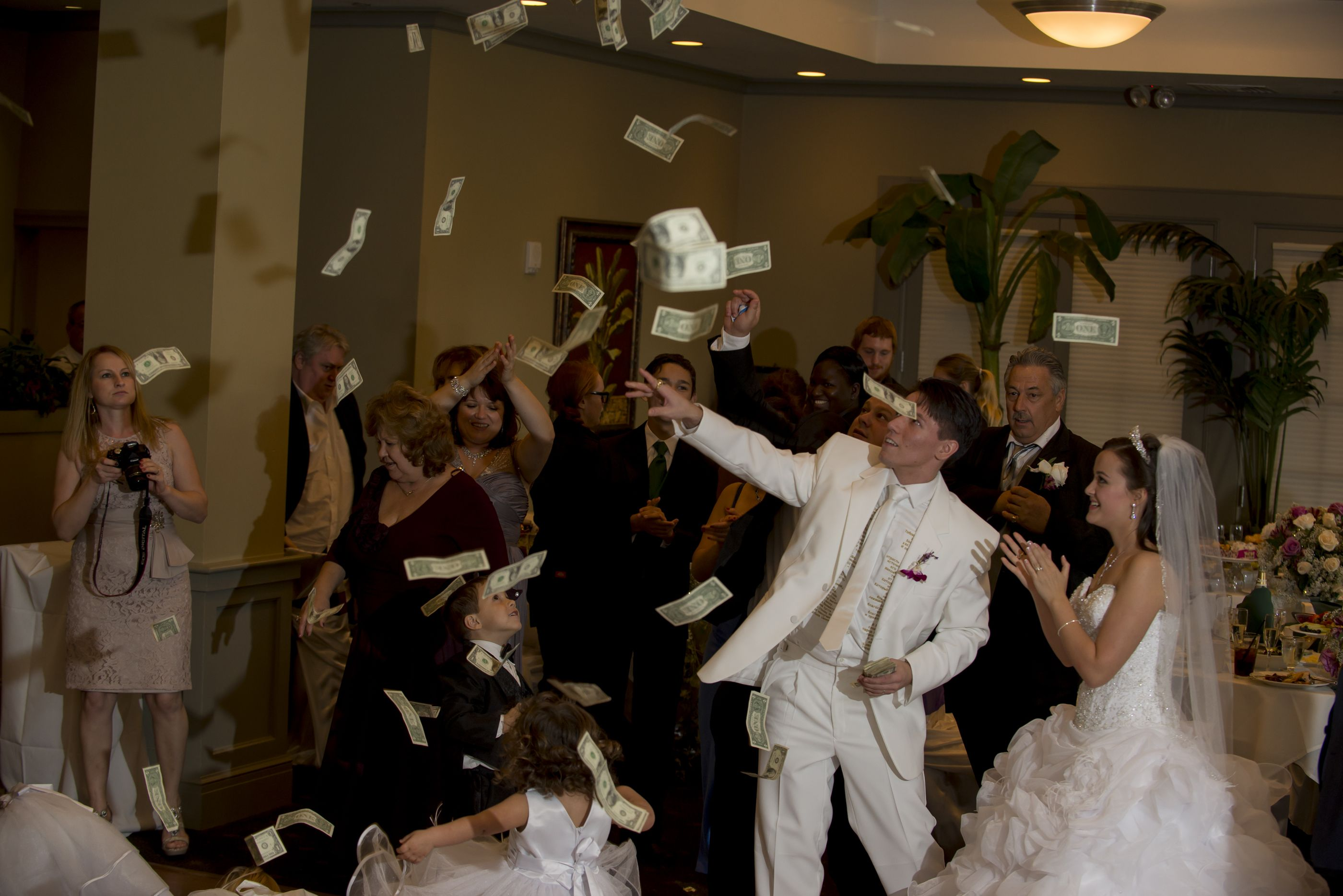 Money Everywhere On This Russian Christian Wedding Similiar To Greek And Other Eastern Orthodox