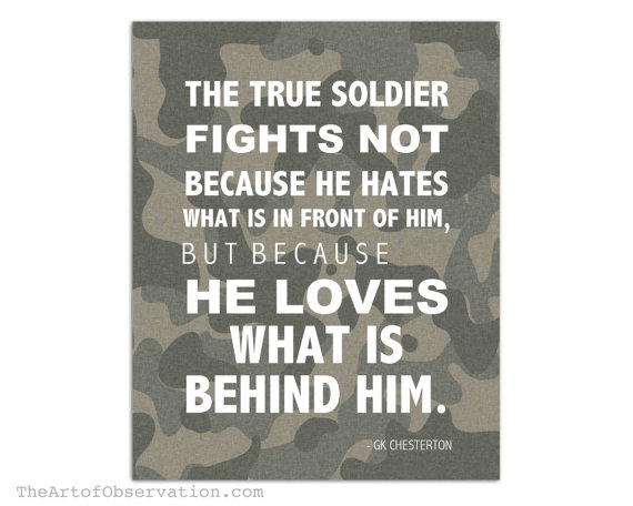 Famous Military Quotes Military Art Print Inspirational Quote Typography Gk Chesterton .