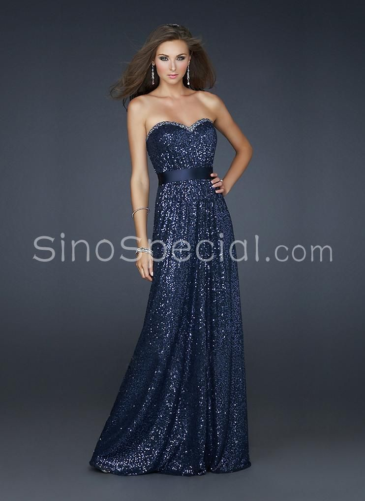 Navy Blue Evening Gownprom Gowns Pinterest Navy Blue