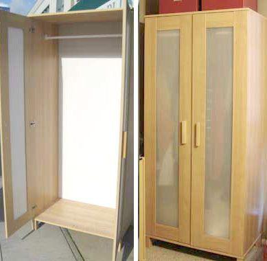 beautiful ikea wardrobe closet storage birch wood aneboda. Black Bedroom Furniture Sets. Home Design Ideas