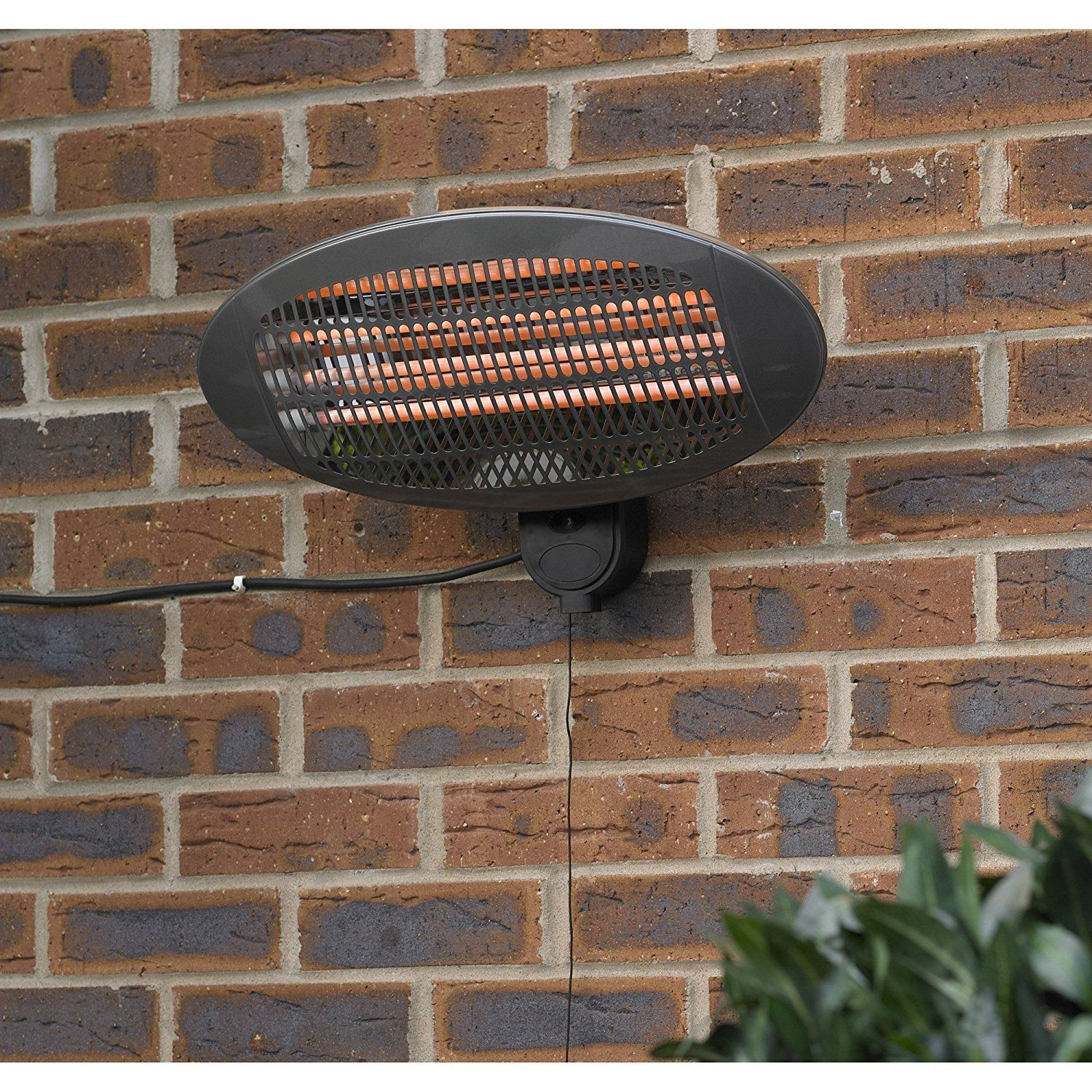 Kingfisher HEAT1300 Wall Mounted Electric Patio Heater   Transparent