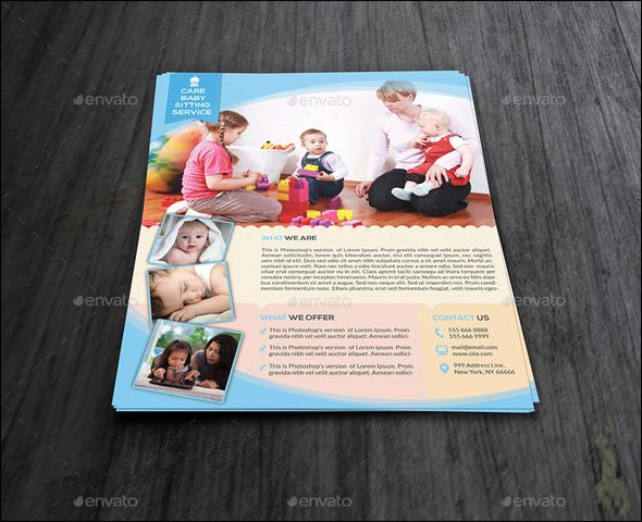 Search Modern Baby Daycare Flyer Psd Mockups  Flyer Template