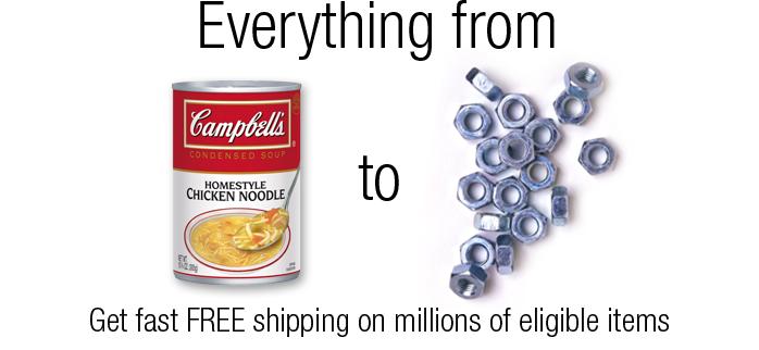 FREE TwoDay Shipping, No Minimum Purchase