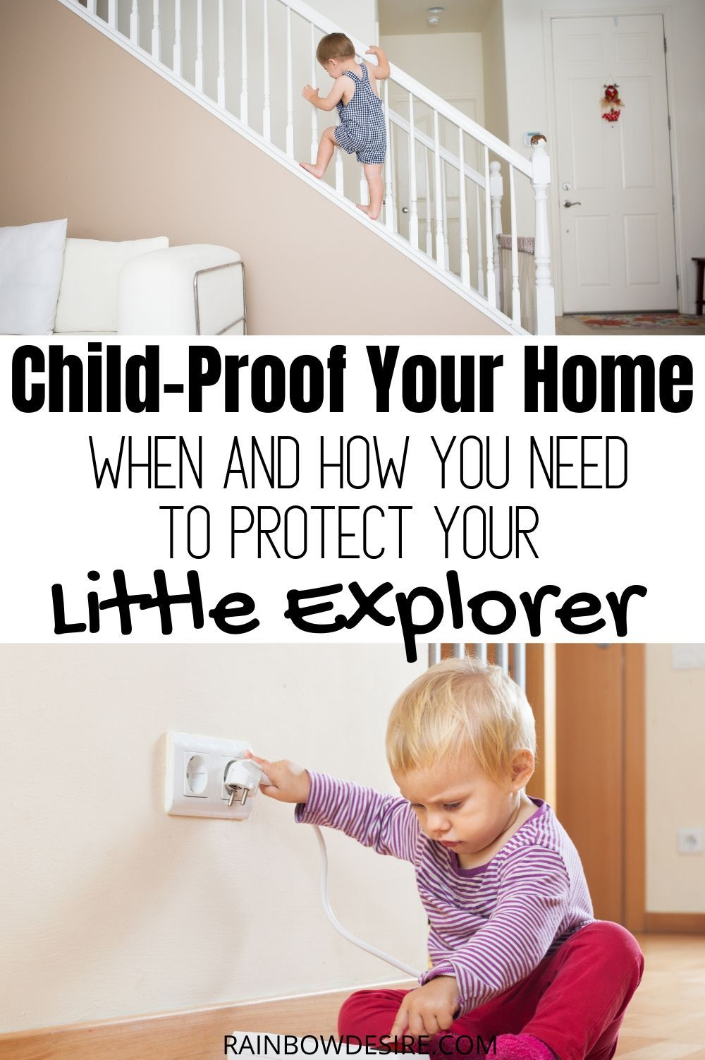 Baby Proofing When And How To Keep Baby Safe In Your Home Rainbow Desire In 2020 Baby Proofing Baby Proof House Baby Safe