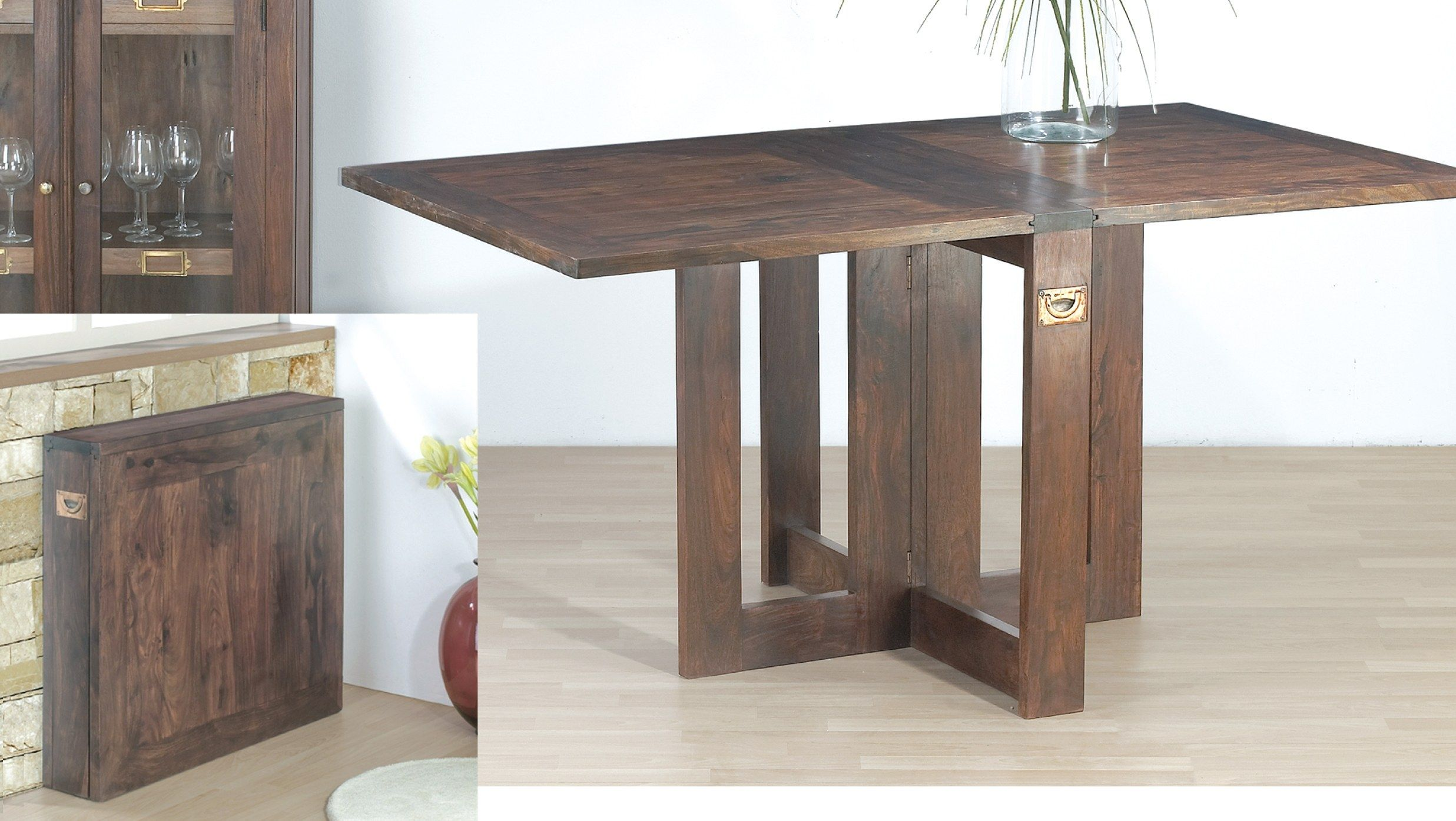 Tremendous Stylish Ideas Collapsible Dining Table Super Dark Wood Gmtry Best Dining Table And Chair Ideas Images Gmtryco