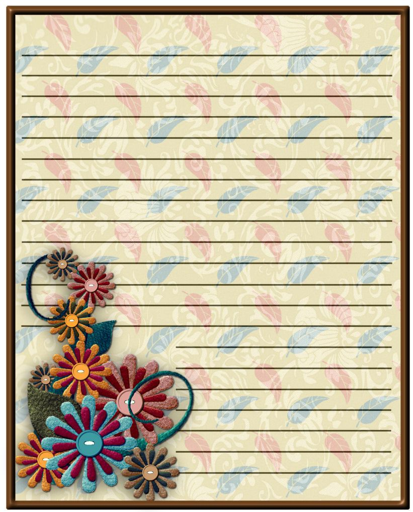 Craftymumz Creations Fall Stationery Free Printable Free Printable Stationery Printable Stationery Borders For Paper