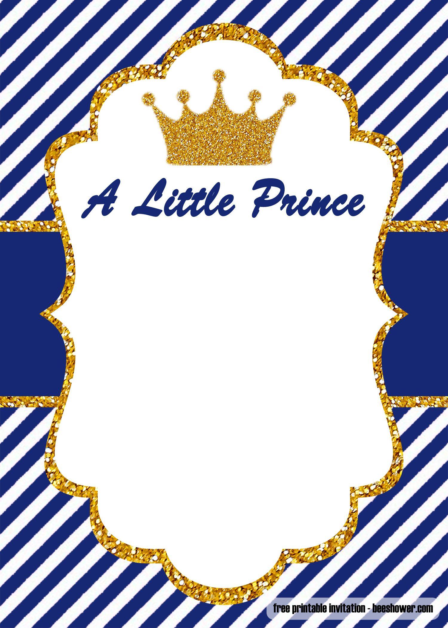 royal baby shower invitation
