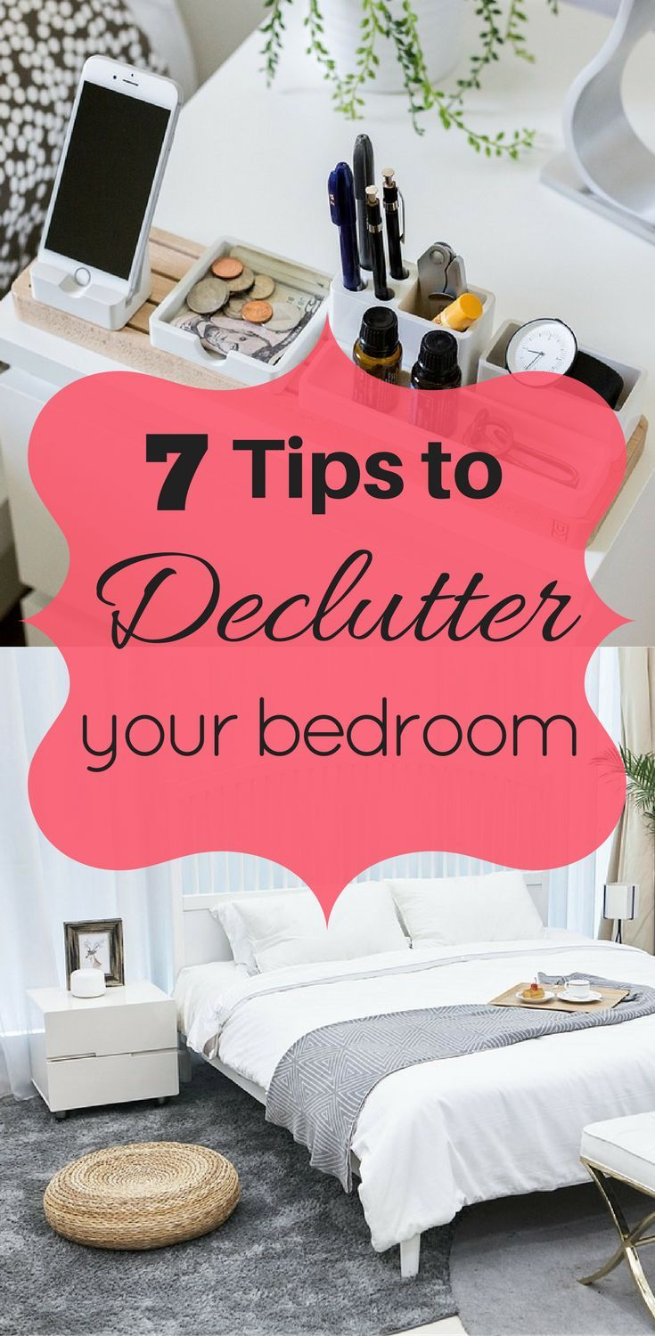 Excellent Ways To Declutter Your Bedroom For A Relaxing Space Declutter Bedrooms And Organizations