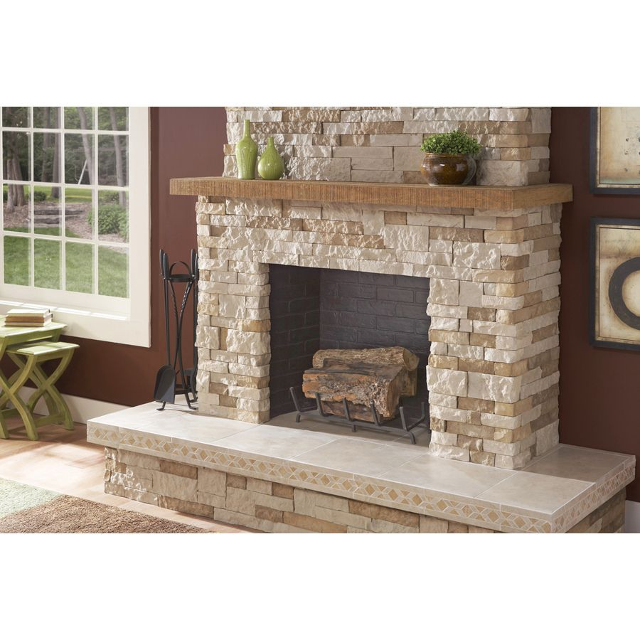 Shop AirStone 8-Sq ft Autumn Mountain Ledge Stone Veneer at Lowes ...