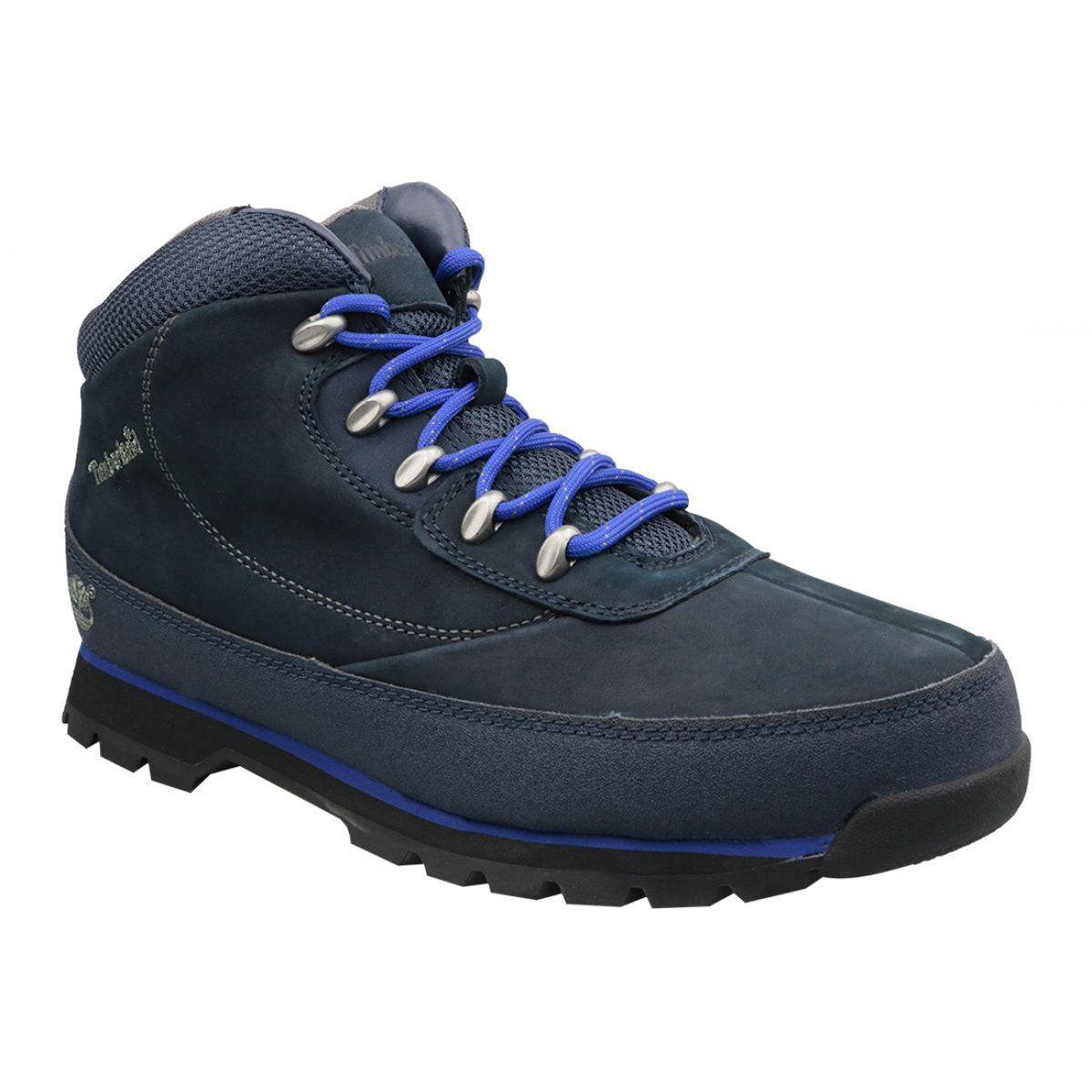 Buty Zimowe Timberland Euro Brook M 6707a Granatowe Winter Shoes Sport Shoes Men Nubuck Leather