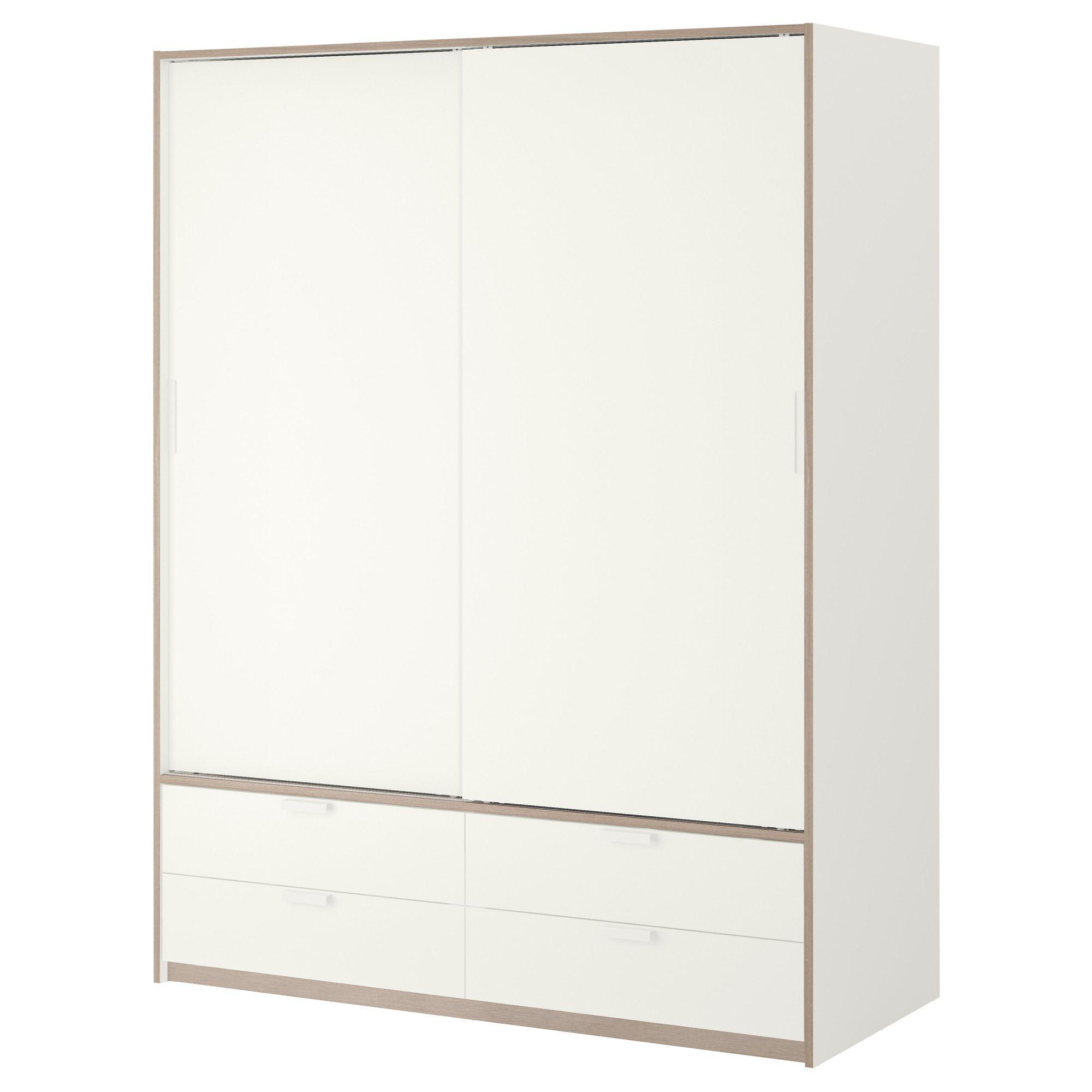 IKEA - TRYSIL, Armario+puerta corredera, blanco/gris claro, , Las ...