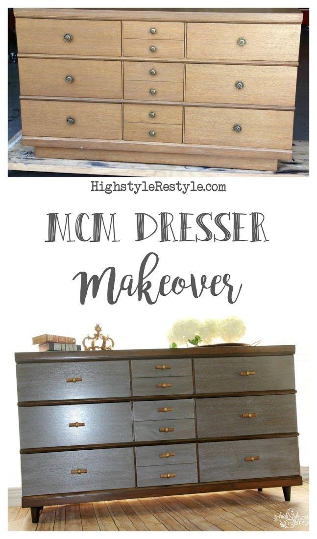 Merveilleux Mid Century Modern Dresser Makeover