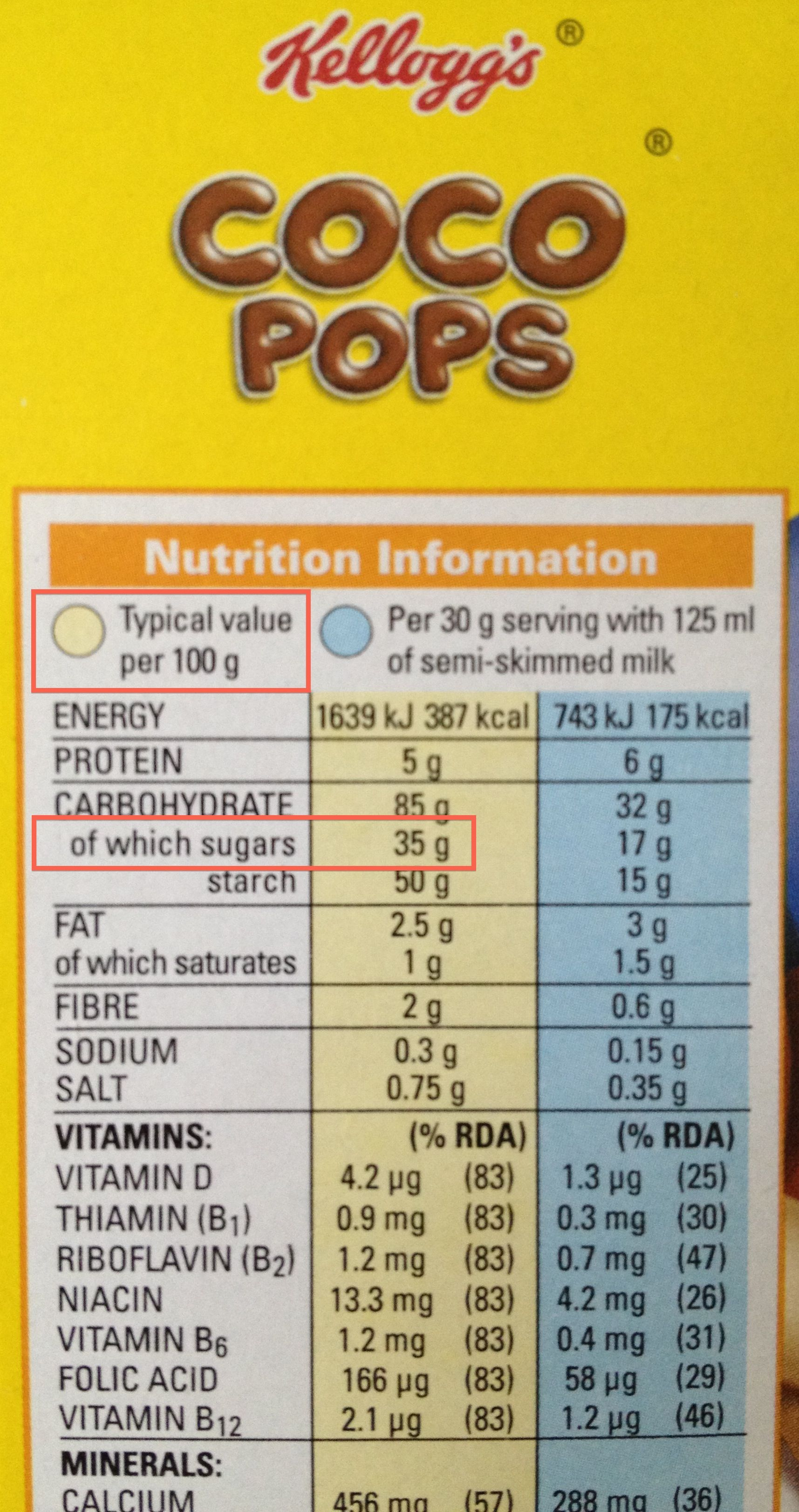 Cereal Food Labels Click On The Image For Additional
