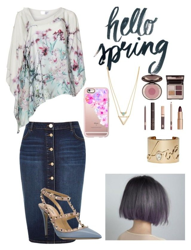 """Hello Spring ❤️"" by jrlutgen ❤ liked on Polyvore featuring River Island, Lanvin, Casetify, Jules Smith, Charlotte Tilbury and Valentino"