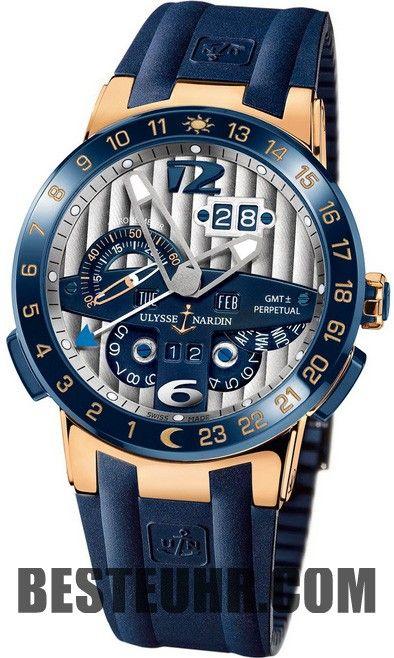 Replica Ulysse Nardin El Toro Rose Gold Blau Gummi 326-00-3 Uhren ... d8632cf2c4