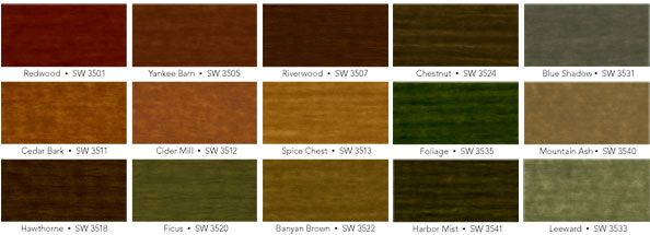 Cedar Fence Stain Colors