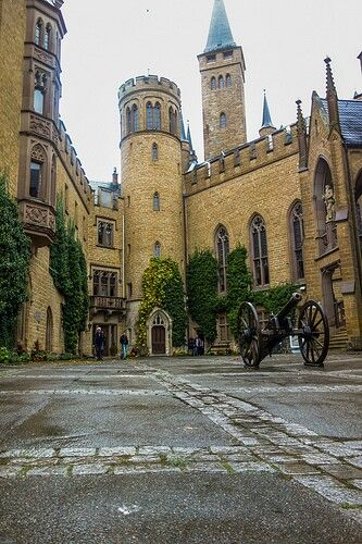 -Courtyard - Hohenzollern castle - Germany