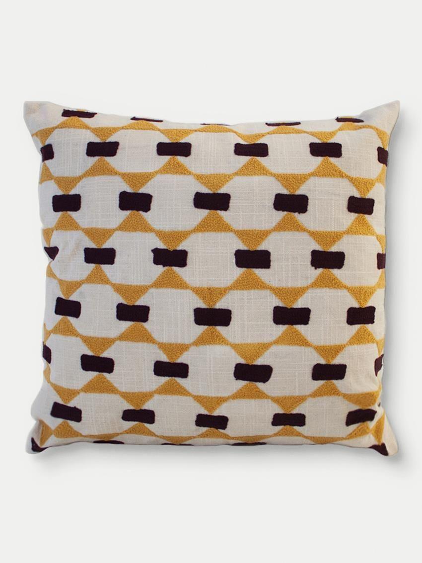 Almofada Bordada Egypt Amarela | Collector55