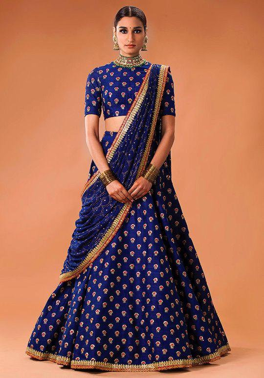 0714ed454 Sabyasachi Mukherjee Heritage Bridal 2016   The Royal blue for royal you    Best of India's Fashion More