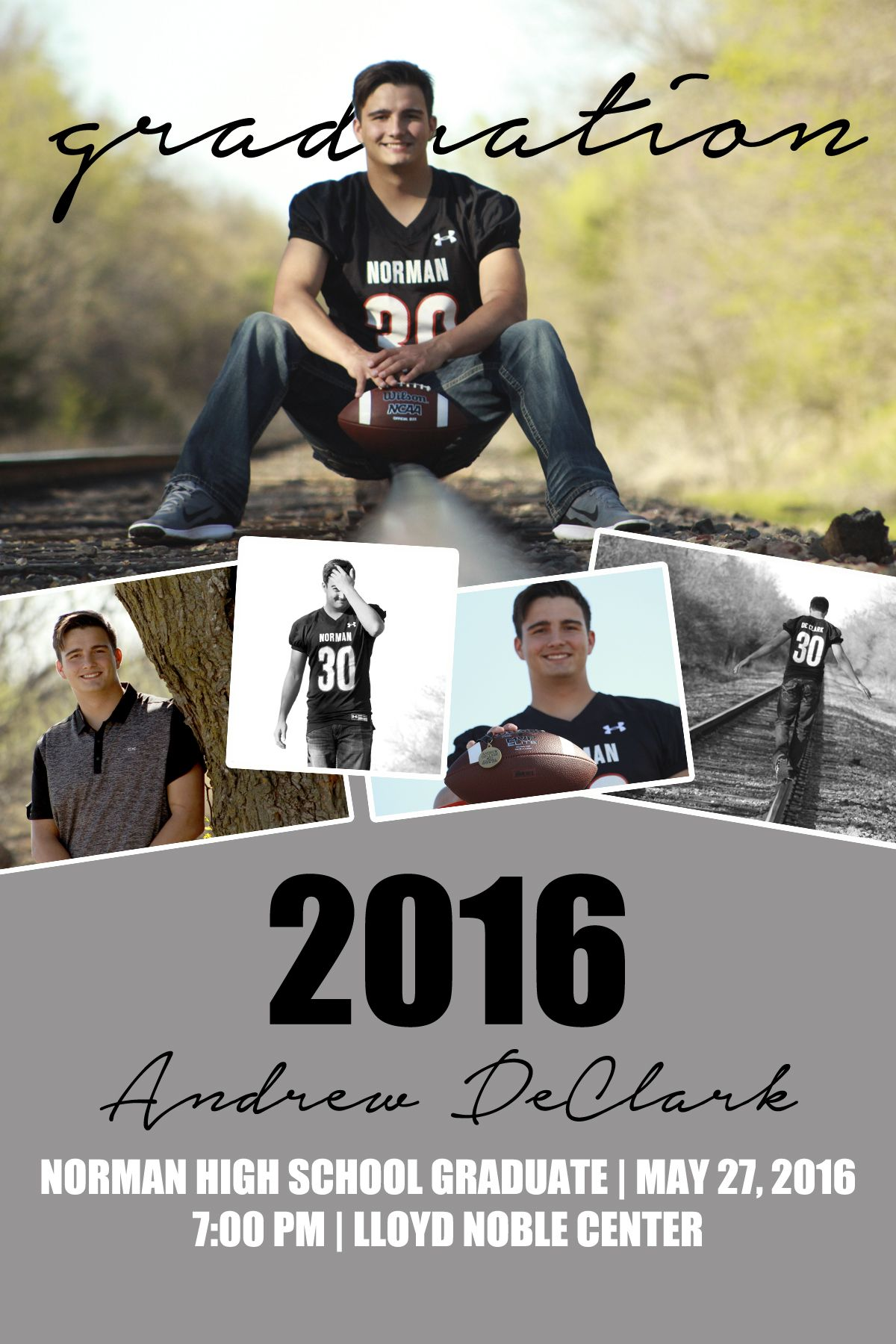 Graduation Announcement {Senior Photo Collage} #Boy | tess.creations ...
