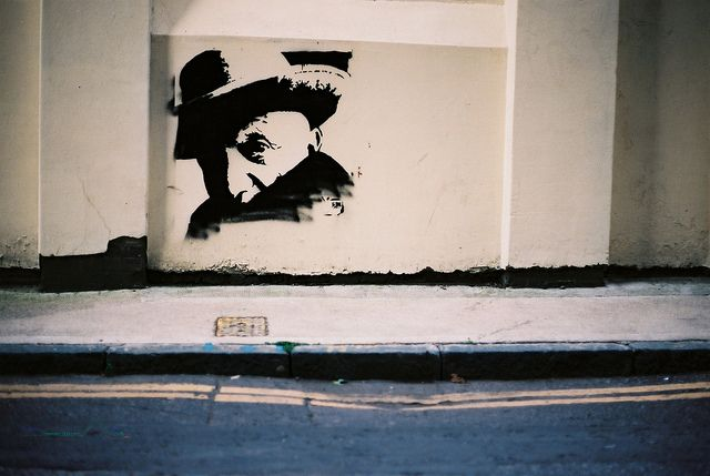 London stencil street art. Jerome Street, Shoreditch. by BazzaStraße, via Flickr