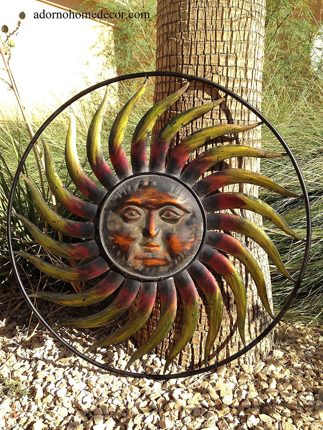 Large round metal sun wall decor garden art visit the image link