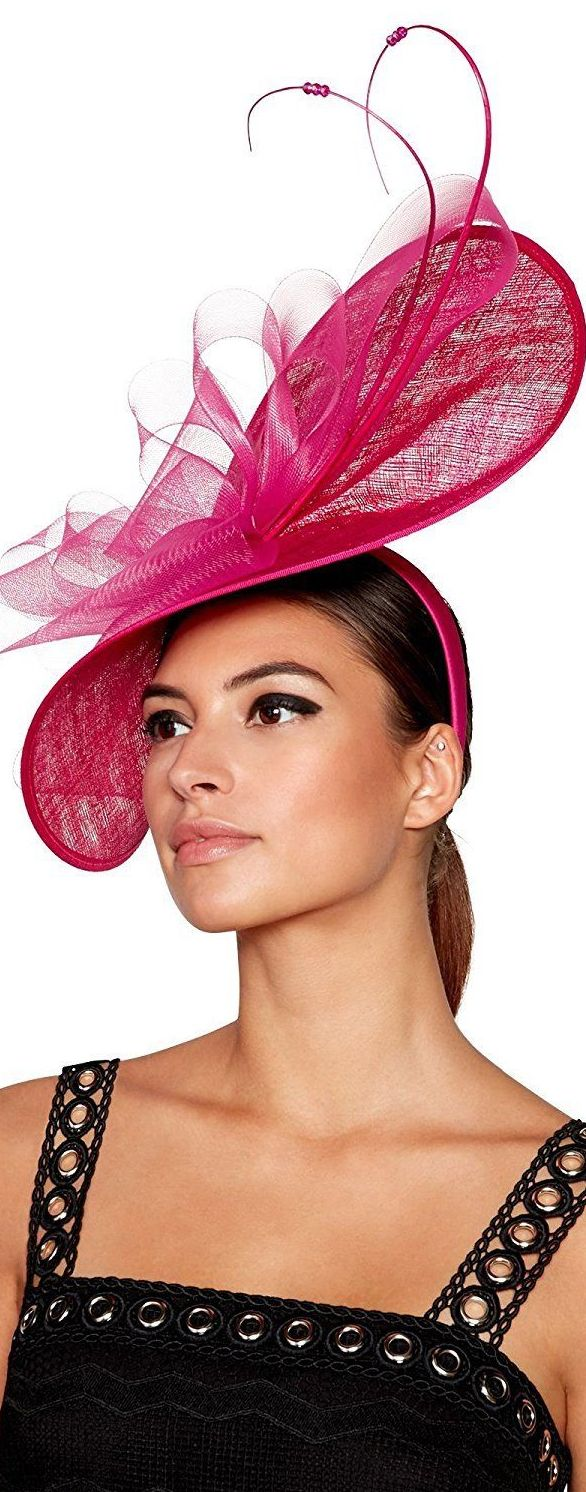 920f0311c68dc Julien Macdonald Hot Pink Disc Hatinator Headpiece Fascinator. Brilliant  Blue Hat for the Kentucky Derby