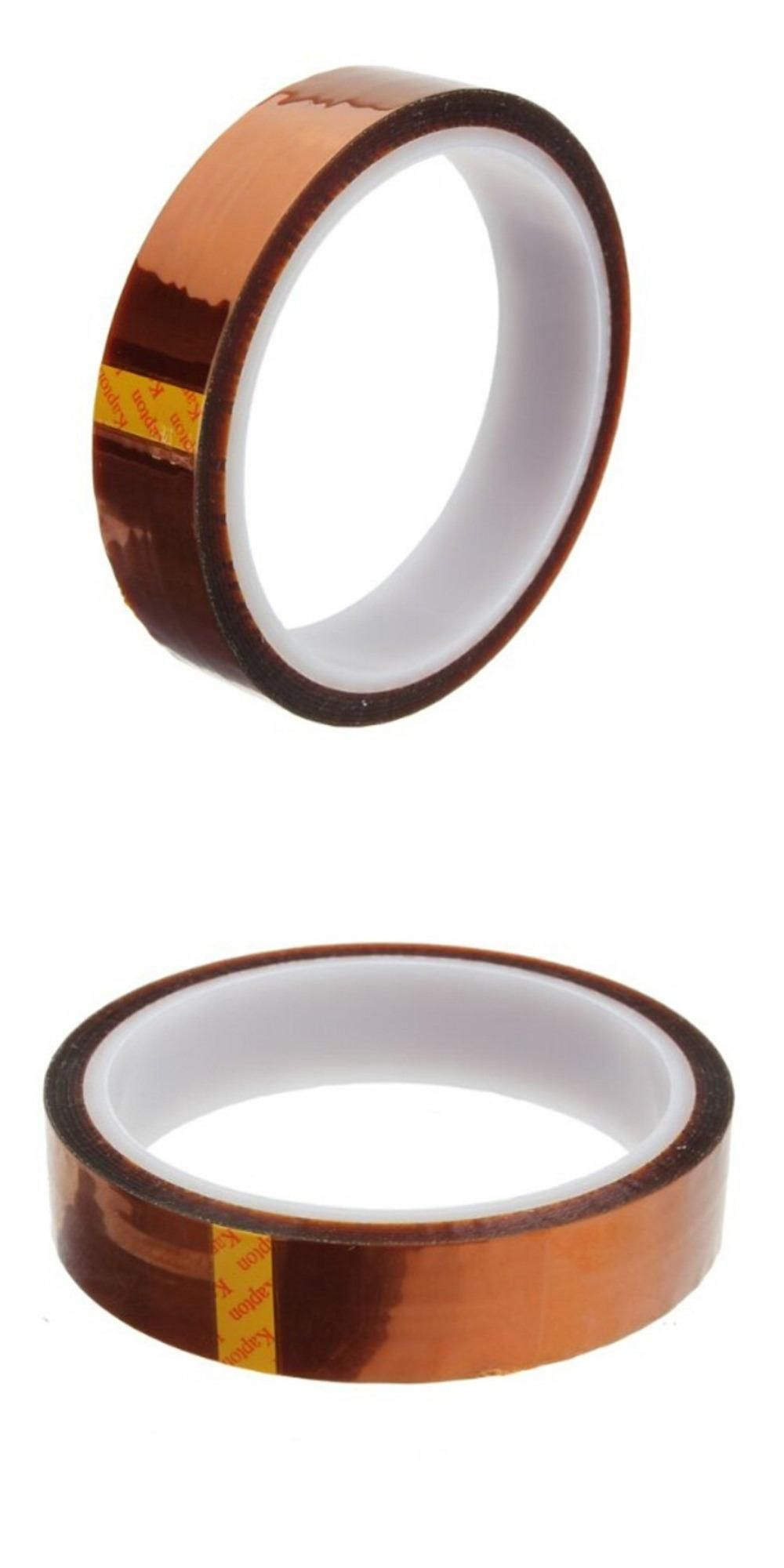5.51US $ |20mm x 30m Heat Resistant High Temperature Polyimide Adhesive Tape Tawny|heat resistant tape 20mm|tape tapetape temperature resistant - AliExpress