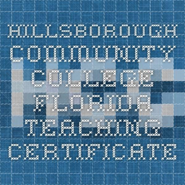 Hillsborough Community College Florida Teaching Certificate