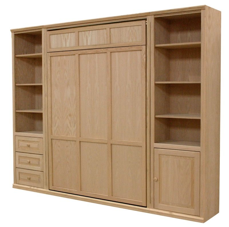 Furniture In The Raw Murphy Bed Fold Away Beds Murphy Bed Real Wood Furniture Horizontal Murphy Bed
