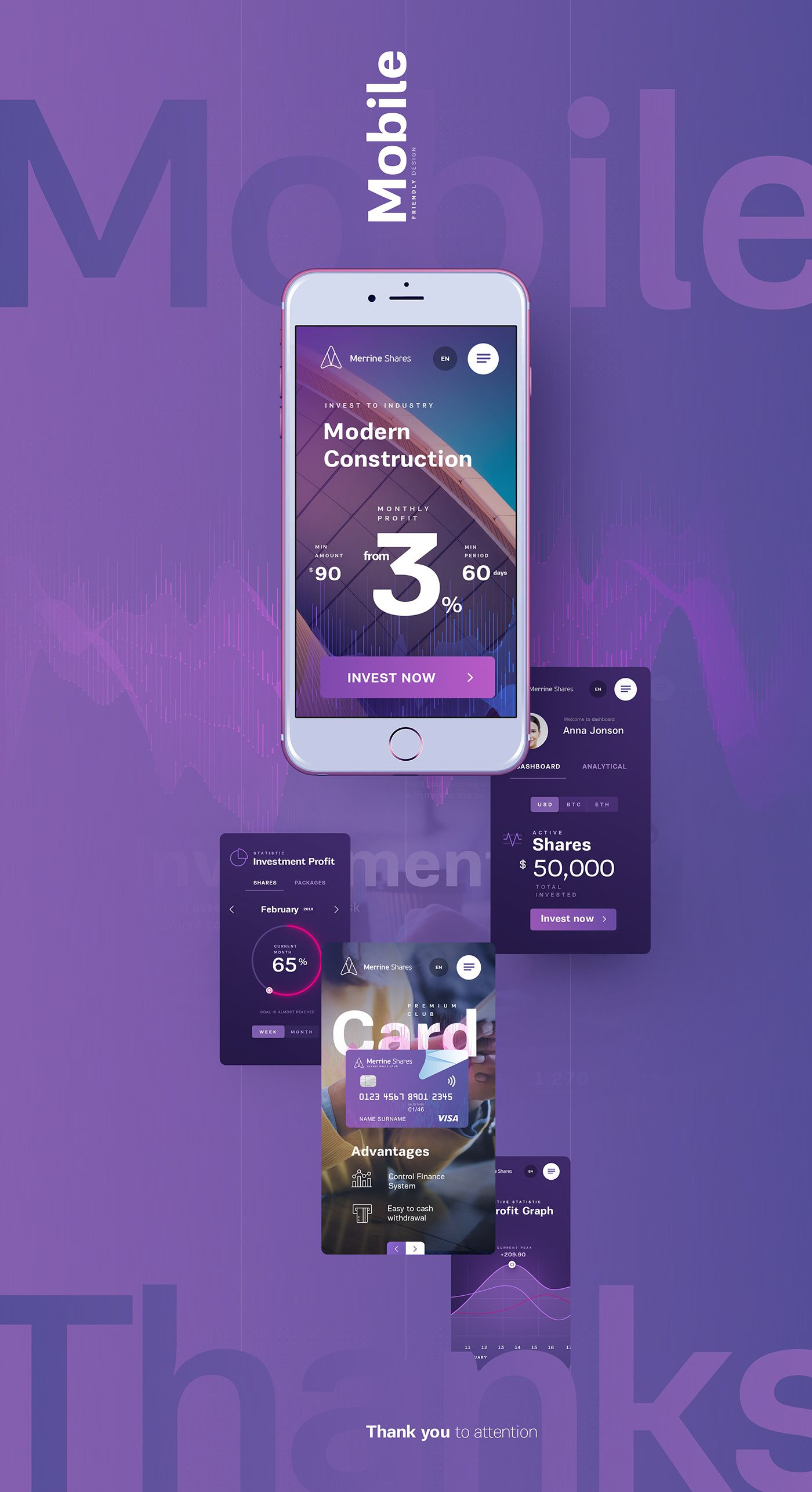 Investment Club On Behance Investment Club App Design Inspiration Investing