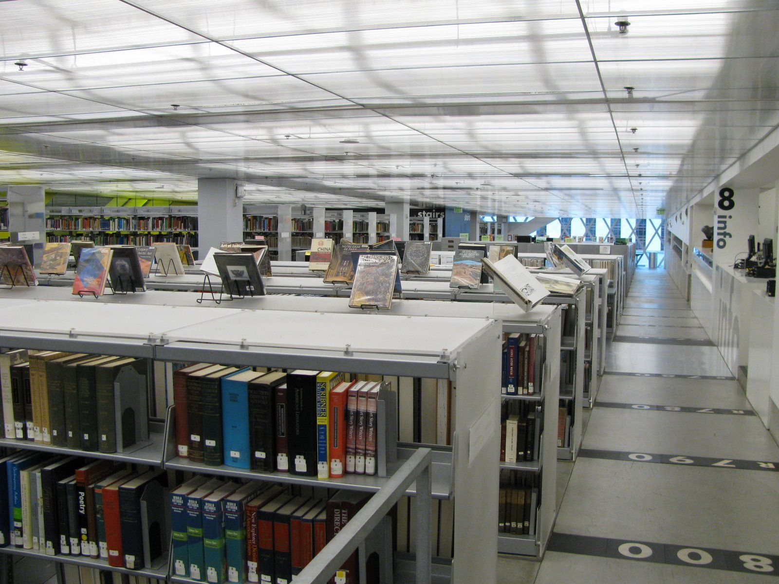 Polycarbonate Panels In The Book Spiral Ceiling At Seattle
