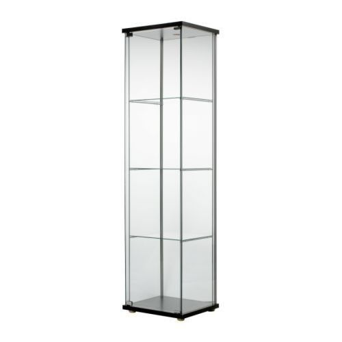Ikea Glass Door Display Cabinet Black Retail Boutique Jewelry Showcase With Lock Glass Cabinets Display Glass Cabinet Doors Display Cabinets Ikea