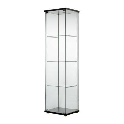 Ikea Glass Door Display Cabinet Black Retail Boutique Jewelry
