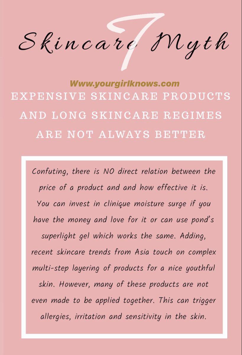 #skincare #beautyblog #beautyblogger #skincaretips #skincaremyth #debunked
