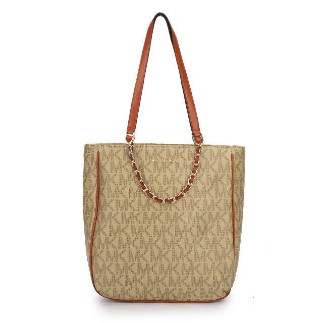 #FallingInLoveWith #MKTimeless Michael Kors Harper Logo Medium Apricot Totes. Have these and they are awesome!