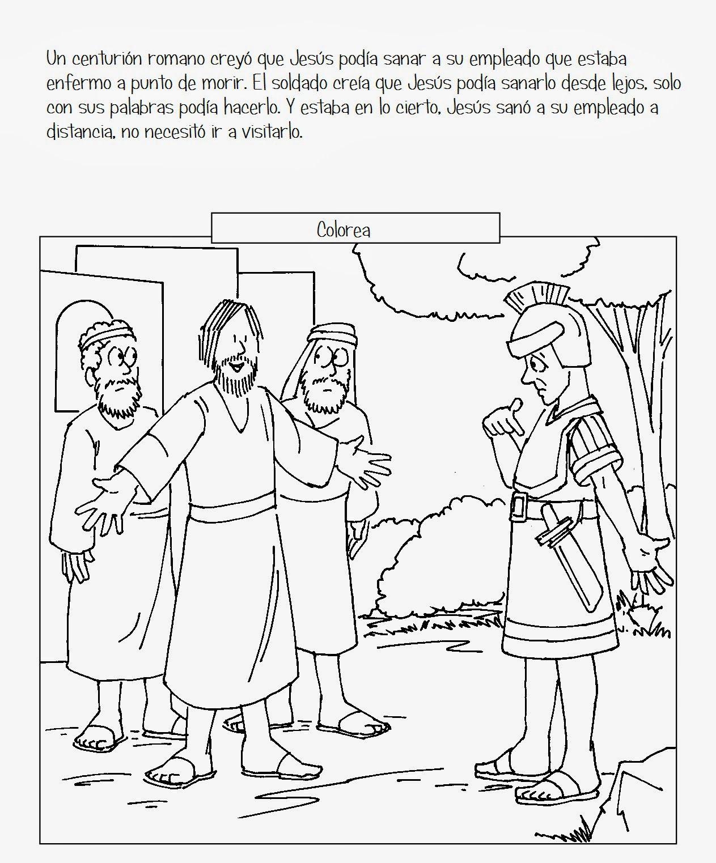 Jesús sana al siervo de un soldado romano Lucas 7:1-10 Jesús fue a ...