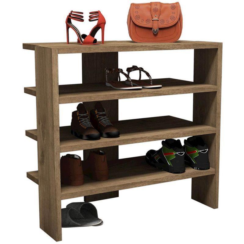 Meuble A Chaussures Banc 10 Paires Etageres Ajustables 103 5 Cm X 48 Cm X 30 Cm Blanc Tectake Meubleachaussuresentree Shoe Rack Home