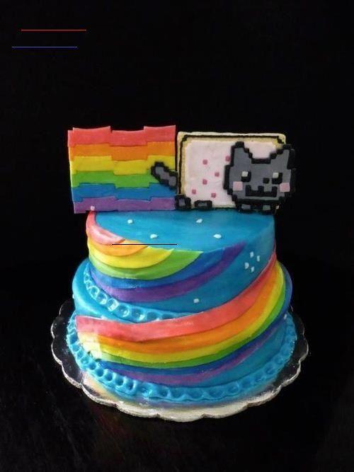 Photo of nyan cat cake Minecraft Nyan cat cake  ; nyan katze kuchen ; gâteau de chat nya…