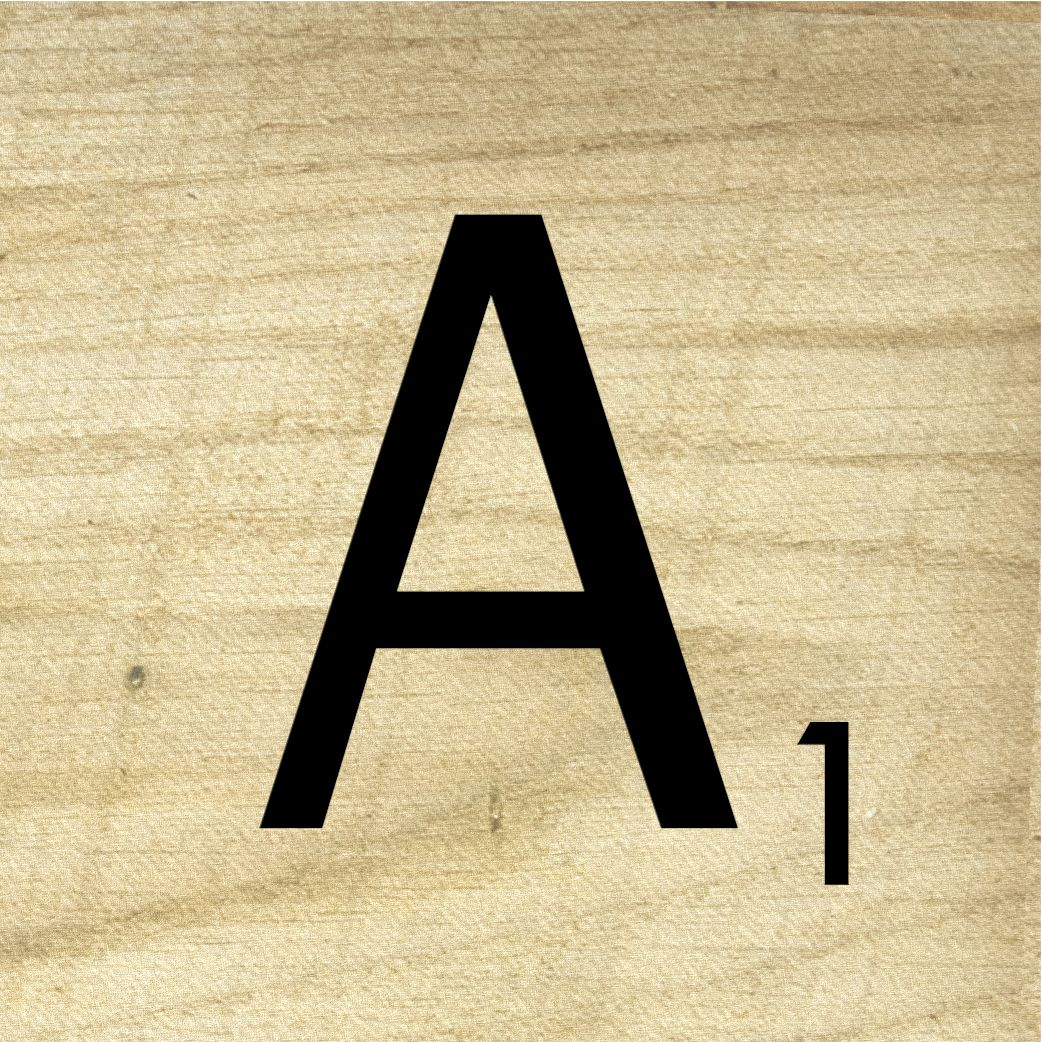 Scrabble-tile-A-wood.jpg 1,042×1,042 pixels | Alphabet ...