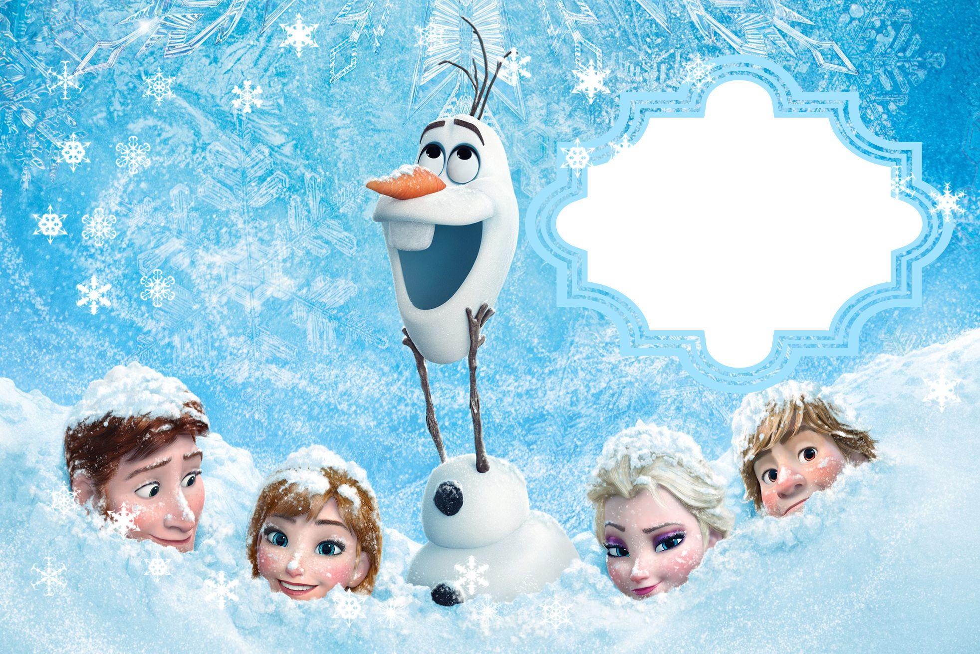 Kit Festa Frozen Para Imprimir E Baixar Gratis Cartoes Frozen